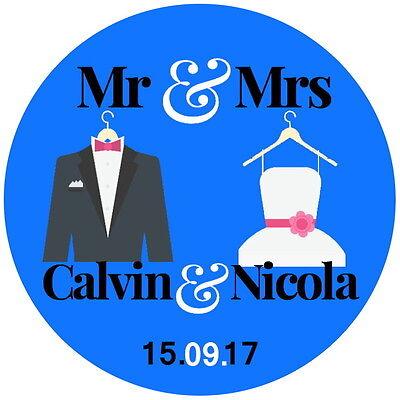 Lucida Personalizzato Matrimonio, Favore, Grazie Salvare La Data Di Adesivi Mr & Mrs-mostra Il Titolo Originale