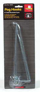 Crawford-Zinc-Plated-Silver-Steel-8-in-Peg-Hook-Shelf-Bracket-2-pk