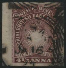 BRITISH EAST AFRICA: 1891 Sg 11(var) 4½a Dull Violet Used Imperf Example (32246)