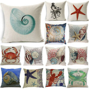 throw-Pillow-Cover-Beach-Ocean-Seaside-Coastal-Pillowcase-Home-Decor-Decorative