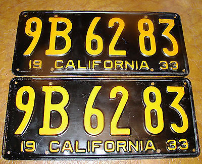 1933 33 California Piatti Lincoln Chevrolet Plymouth Nash Hudson Buick Di Luminoso A Colori