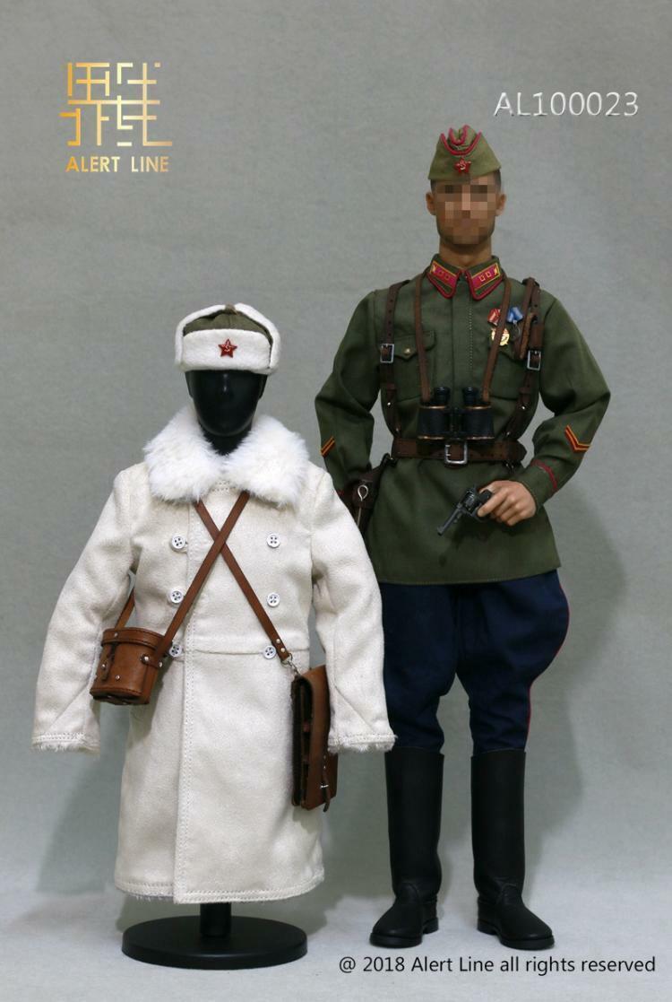 Línea de alerta AL100023 1 6 Segunda Guerra Mundial 1942 Conjunto de Oficial de infantería teniente Ejército Rojo