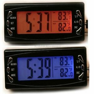 multifunktions uhr thermometer innen au en f r auto ebay. Black Bedroom Furniture Sets. Home Design Ideas