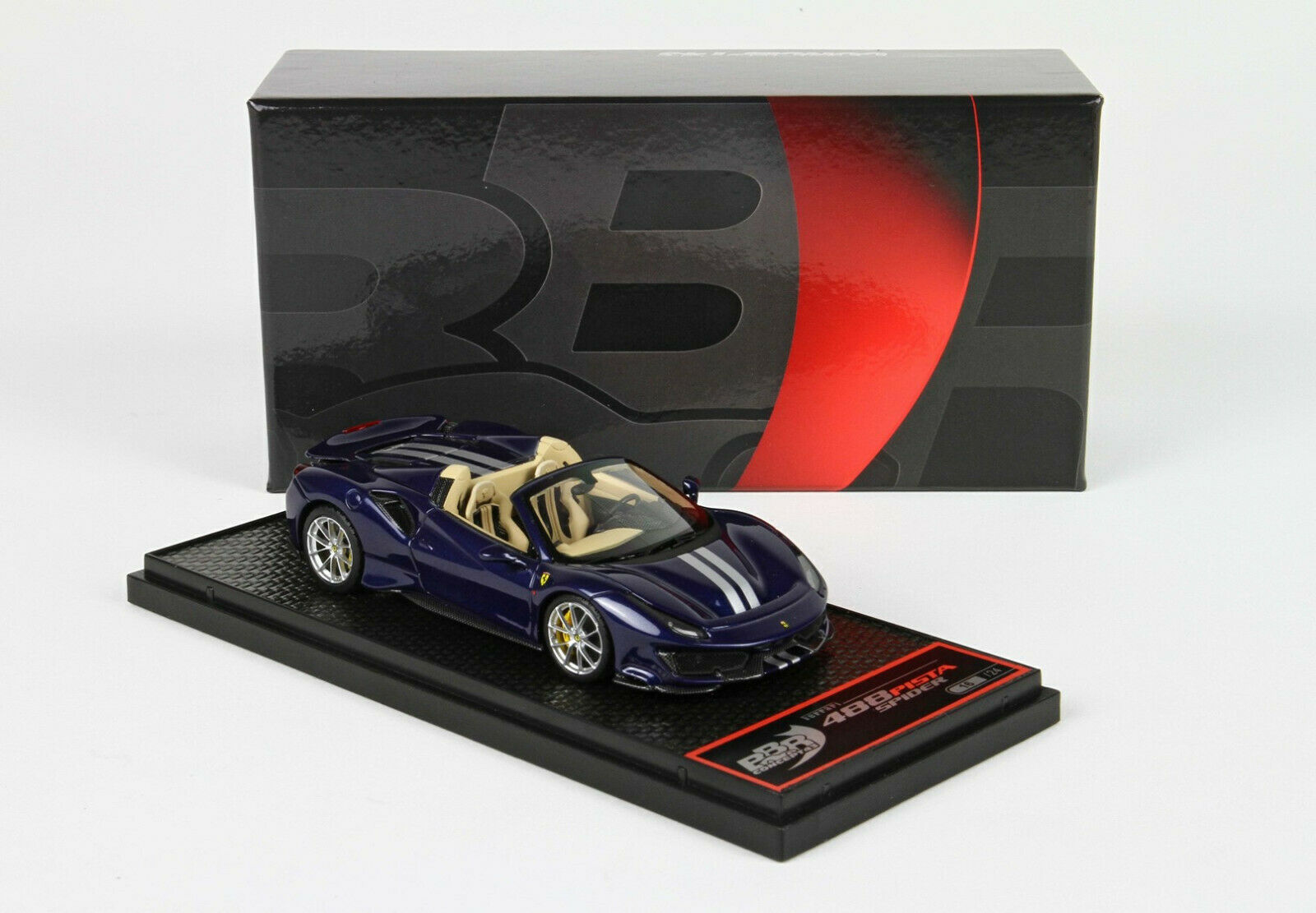Ferrari 488 Pista Spider bleu  Swaters lim.ed. 24 pcs 1 43 BBRC218E1 BBR MODELS  réductions incroyables