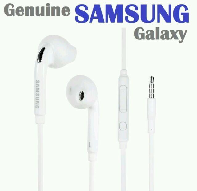 2x Genuine Samsung Galaxy S6 Edge Note5 4 3 S5 S4*Headphones Earphones Handsfree