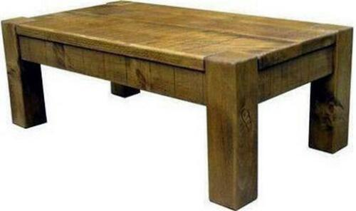 """any size made"" SOLID WOOD COFFEE TABLE SIDE END RUSTIC PLANK PINE FURNITURE"