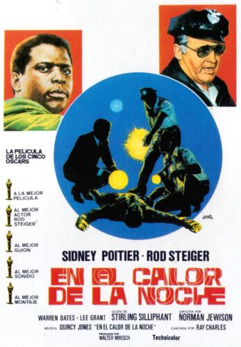 IN THE HEAT OF THE NIGHT Movie Poster 1967 RARE