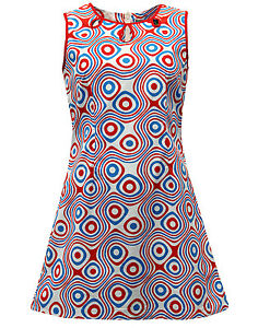 Nouveau Out Mc238 Dress Ab Hz Blanc Sixties Mini Keychage Annᄄᆭes Retro Cut Mod Collier 1960 EWDHI29