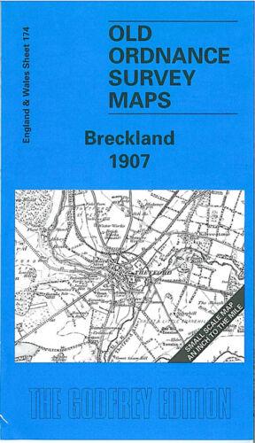 OLD ORDNANCE SURVEY MAP BRECKLAND 1907 BRANDON FELTWELL LAKENHEATH THETFORD