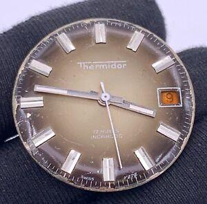 Thermidor-Cal-st-964-Main-Manuel-Vintage-29-8-mm-Date-Pas-Fonctionne-pour-Parts