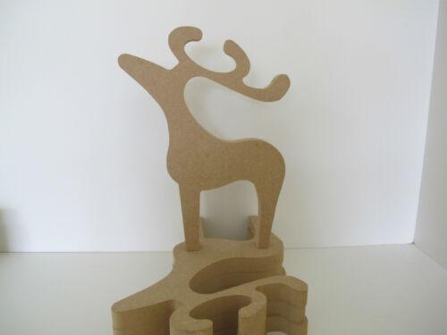 Wooden Reindeer Freestanding Medium 155mm high 18mm Thick