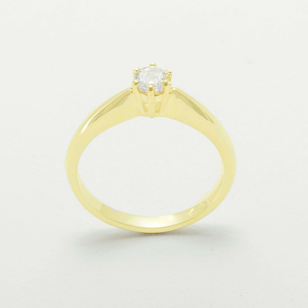 Fine Rings Diamond Ring Solitaire Accented 1.36 Carat 18 Kt Yellow Gold Vvs2 Size 4.5-9