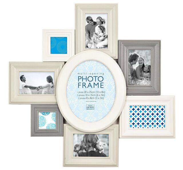 Innova Editions Madeira VIII White - 8 Opening Photo Frame Home ...