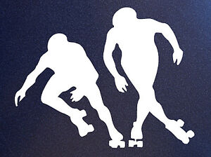 ROLLER-DERBY-SILHOUETTES-Skate-Skating-Players-Vinyl-Sticker-Decal-Car-Window