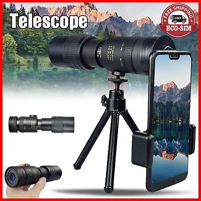 earlyad 4K 10-300X40 mm Super Telephoto Zoom Monocular Telescope for Beach Travel