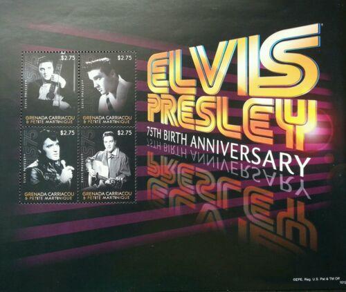 Grenada Elvis Presley 75 Birthday 2010 Singer Artist Famous (sheetlet B) MNH