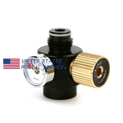 PCP Paintball Air Tank Aluminium Regulator 0-2200psi Output Adjustable Valve