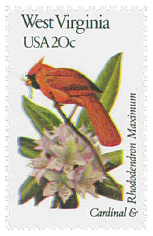 1982 20c State Birds & Flowers, W. Virginia, Rhododendr