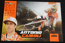 Card Red Bull KTM 350 SX-F 2012 #222 Antonio Cairoli (ITA) MX1 (HW)