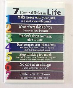 Imán Para El Refrigerador 7 Cardenal Reglas De La Vida