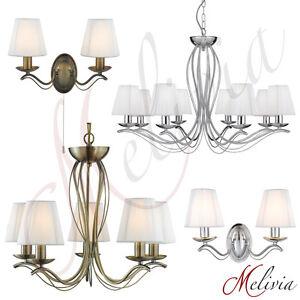 Lustre-Applique-Murale-Laiton-Chrome-Tissu-Lampes-Suspendues-Plafonniers