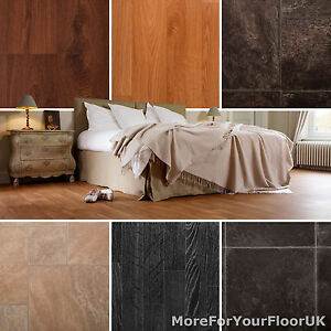 Image Is Loading Quality Vinyl Flooring Roll CHEAP Wood Amp Tile