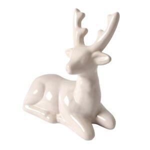 Decoracion-Ciervo-Tendida-Blanco-Ceramica-de-Navidad-Figura-Animal-Decorativa