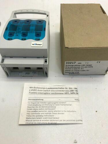 Wöhner 33217 NH Sicherungs-Lasttrennschalter Gr.000 EAN 4021267332174