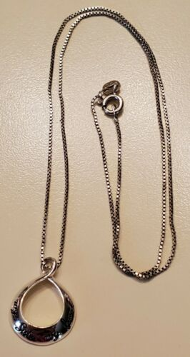"""Sterling Silver """"My Sister My Friend"""" 18"""" Necklace"""