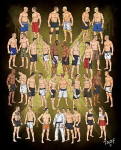 The Art Of Fighting Rivalries Poster Ebay