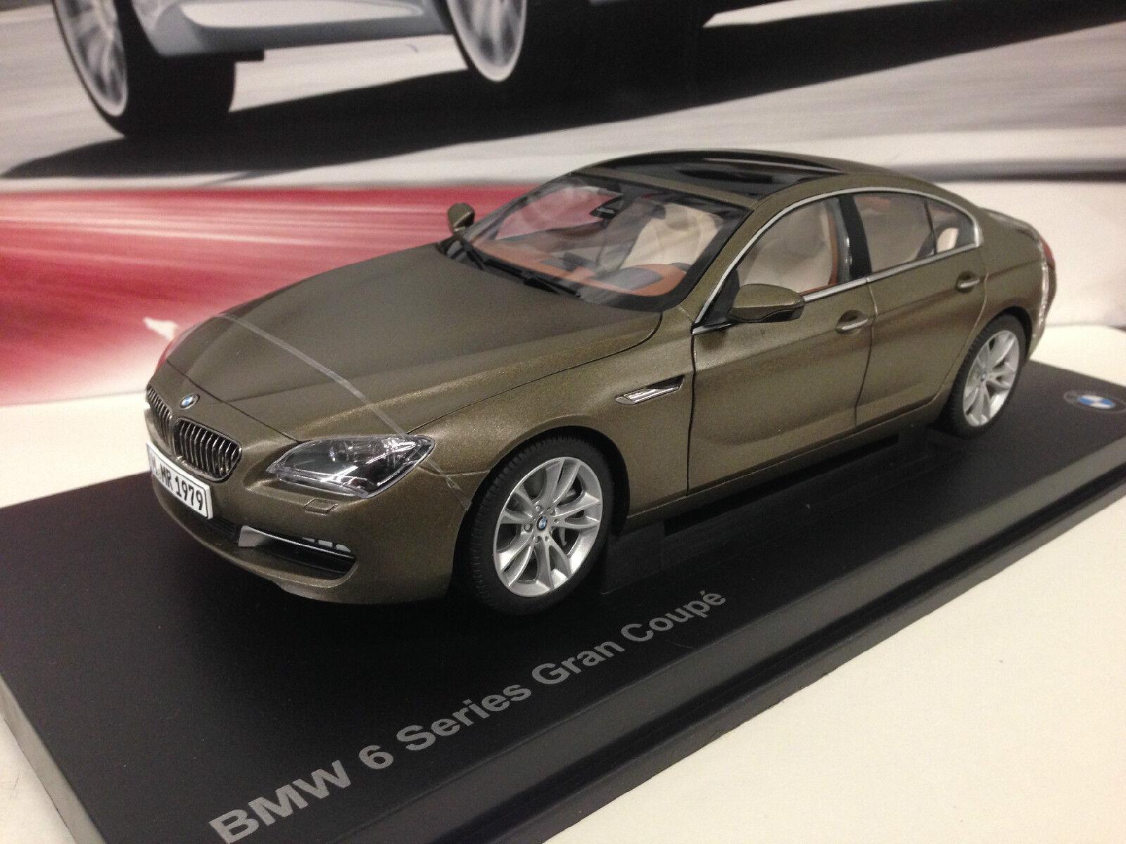 Con 100% de calidad y servicio de% 100. 2014 Bmw 6 Series F06 F06 F06 Grand Coupe congelados Bronce 1 18th fábrica BMW Diecast  gran selección y entrega rápida
