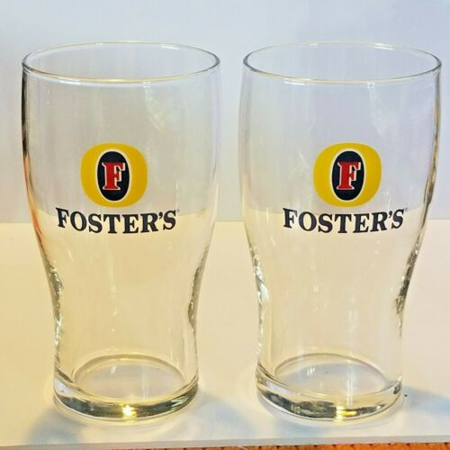 """Lot of 2 Foster/'s Beer Tulip Style Glasses 14 oz 5 3//4/"""" Tall"""