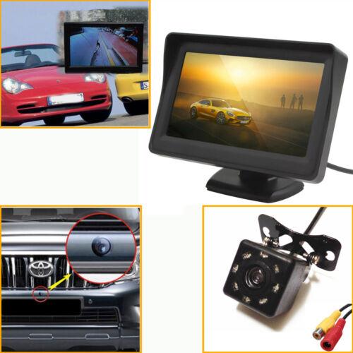 """4.3/"""" LCD Display Car Monitor /& 8 LEDs CMOS Car SUV Reverse Backup Camera"""