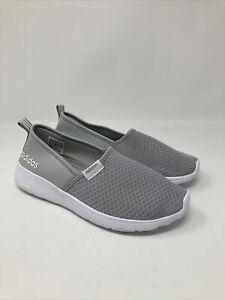 Details about adidas NEO Women's Lite Racer Slip On Fashion Sneaker, 6.5 US, Grey/White