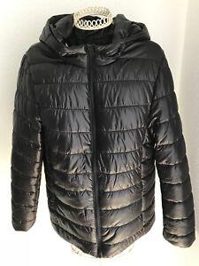 official photos f3e6c 358d4 Details zu NEU! schwarze Jacke mit Kapuze - Gr.L - FOREVER21- Damen -  Reißverschluss
