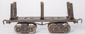 PRE-WAR-TIN-LITHOGRAPHED-0-GAUGE-KRAUS-FANDOR-LUMBER-FLAT-CAR-CIRCA-1933