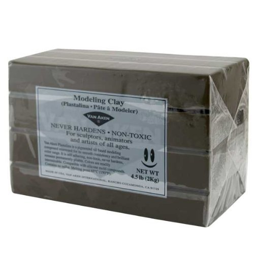 Bar Plastalina Modeling Clay 4.5 lb White