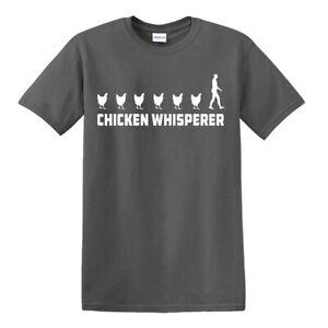 Poulet-Whisperer-T-shirt-Farmer-Farm-Nouveau-Drole-Anniversaire-Cadeau-Top-Tee
