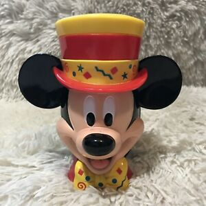Disney-on-Ice-Mickey-Mouse-Ringmaster-Top-Hat-Mug-with-Flip-Top-Plastic-Lid-Cup