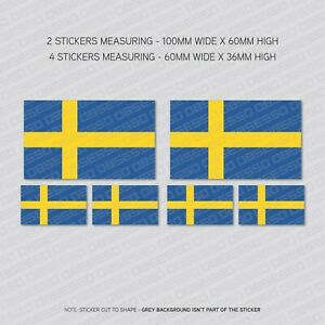 6 x Slovenia Slovene Flag Vinyl Stickers Decals Window Car Van SKU5514