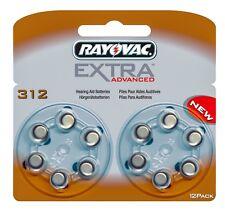 Rayovac Extra Advanced Hearing Aid Batteries Size 312 (Brown Tab) x 12 Cells