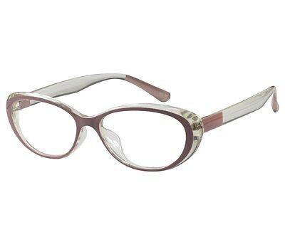 EBE Women Cat Eye Style Reading Glasses Oval Women TR-90 Flex
