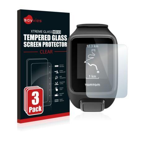 3x protección cristal blindado diapositiva para TomTom Spark 3 tanques lámina vidrio 9h lámina de protección