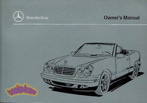 clk320 convertible 1999 mercedes cabriolet owners manual book clk rh ebay com 1999 mercedes clk 320 owners manual 1999 Mercedes CLK 320 Coupe