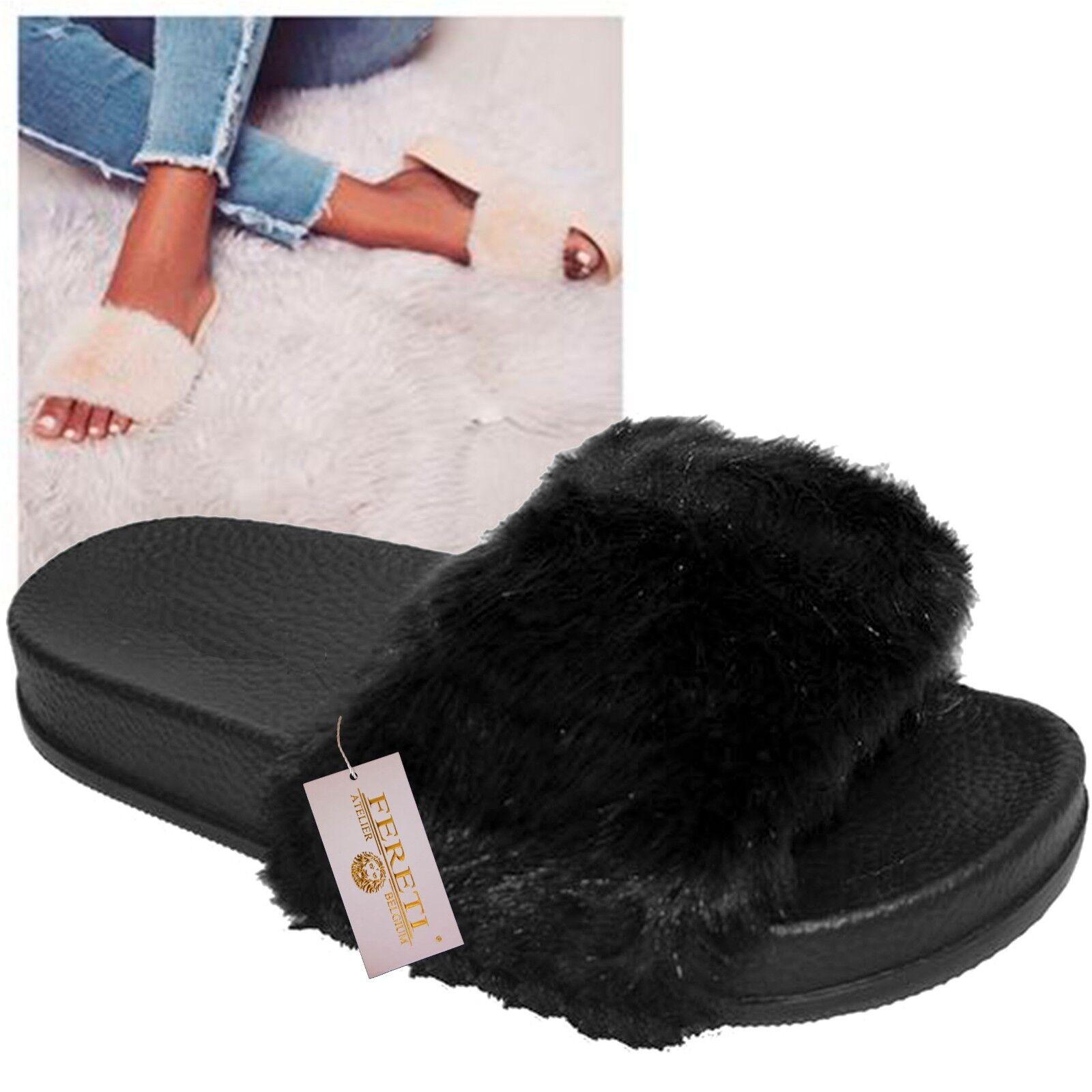 Sandals Flip Flops Hair Sneakers Shoes Slippers Swedish Black Sneakers Hair Ballet Pumps 46b5c2