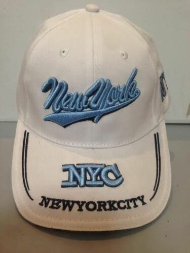 CAPPELLO NEW YORK CITY BIANCO VISIERA CAPPELLINO HAT