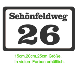 Hausnummer Aufkleber Strasse Hausnummern Mülltonne Briefkasten Postkasten 201