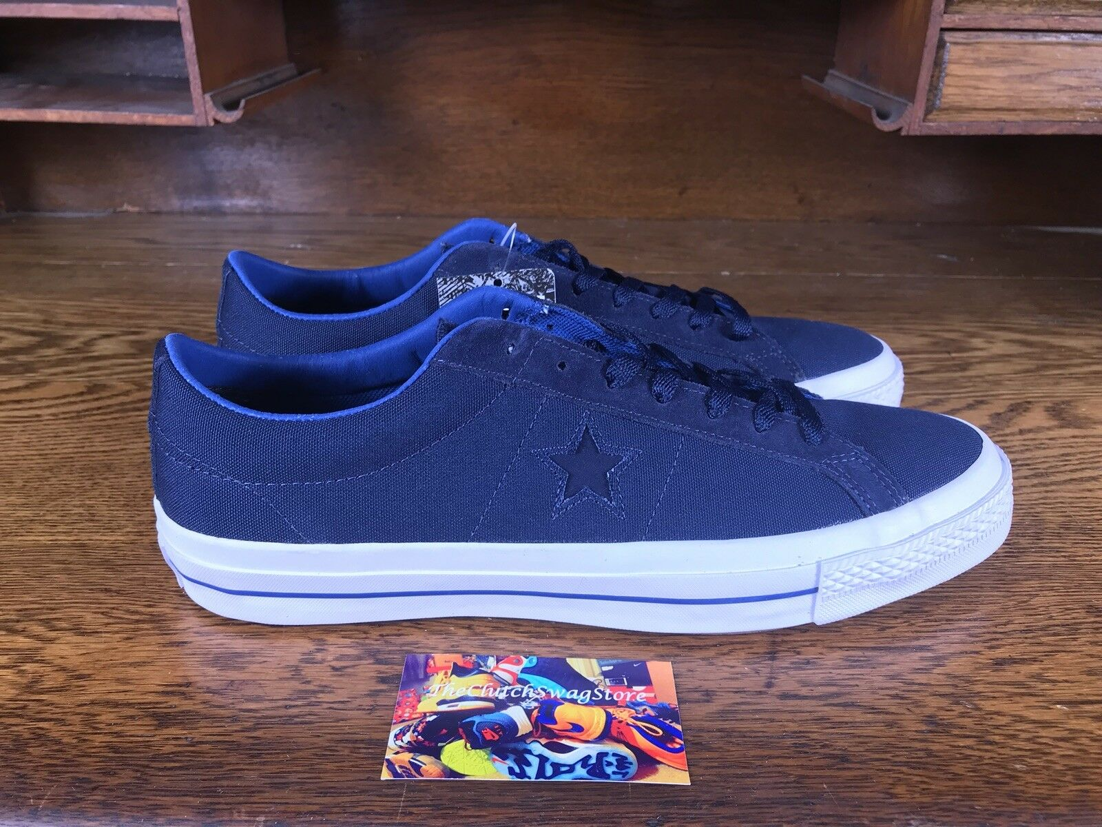 Converse One Star hommes Low Top Casual Navy/blanc Chaussures 153708C Sz 12 w Lunarlon