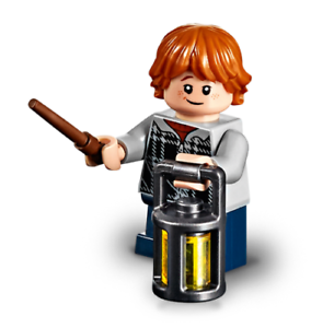 LEGO Harry Potter Minifigure Ron Weasley  from  75950 Aragog/'s Lair with lantern
