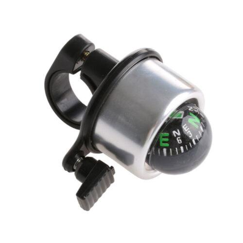UK Bike Bicycle Cycling Handlebar Compass Single Ping Horn Metal Bell Ring Alarm